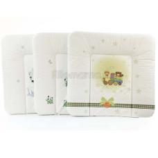 Пеленатьный матрасик Ceba Baby MIX 70х75 см мягкий на комод
