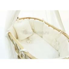 Набор FUNNABABY Premium Baby для колыбели Berlin белый без матрасика