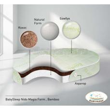 Матрас овальный BabySleep NUOVITA Magia Form Bamboo 175х75 см