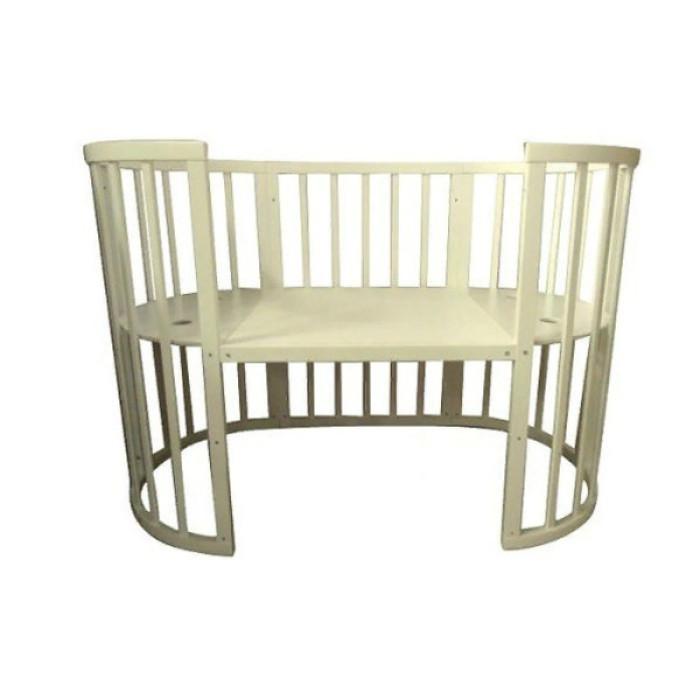 Кровать-трансформер овальная 8в1 СОНЯ 04 с маятником