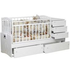 Детская кроватка-трансформер с автоматическим маятником УКАЧАЙ-КА 05