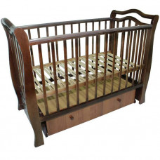 Кроватка для новорожденного VALLE Toscana маятник поперечный