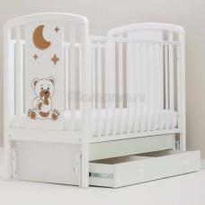 Кроватка детская ANGELA BELLA Жаклин Мишка с соской (универсальный маятник)