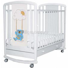Кроватка детская ANGELA BELLA Жаклин Мишка на качелях голубой