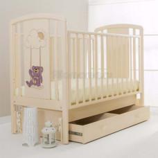 Кроватка детская ANGELA BELLA Жаклин Мишка на качелях сиреневый (универсальный маятник)