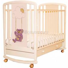 Кроватка детская ANGELA BELLA Жаклин Мишка на качелях сиреневый