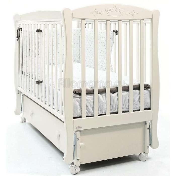 Детская кроватка FIORELLINO Crown 120х60 см (маятник)