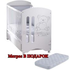 Кровать MICUNA Sweet Bear с матрасом, 120х60 см