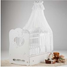 Детская кроватка Островок Уюта Птенчики (поперечный маятник)