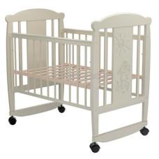 Кроватка для новорожденного VALLE Кот 02 колесо-качалка без ящика