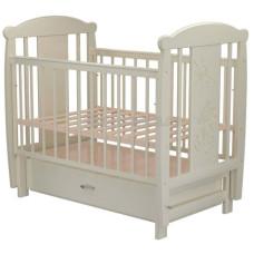 Кроватка для новорожденного VALLE Кот 04 маятник поперечный с ящиком