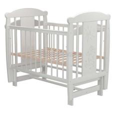 Кроватка для новорожденного VALLE Кот 05 маятник продольный без ящика