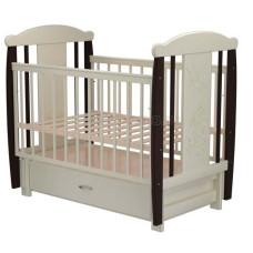 Кроватка для новорожденного VALLE Кот 05 маятник продольный с ящиком