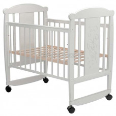 Кроватка для новорожденного VALLE Зайка 02 колесо-качалка без ящика
