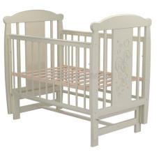 Кроватка для новорожденного VALLE Зайка 04 маятник поперечный без ящика