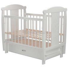 Кроватка для новорожденного VALLE Зайка 04 маятник поперечный с ящиком