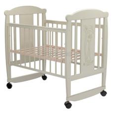 Кроватка для новорожденного VALLE Жираф 02 колесо-качалка без ящика
