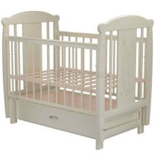 Кроватка для новорожденного VALLE Жираф 04 маятник поперечный с ящиком