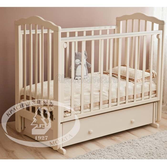 Детская кроватка Красная Звезда Элина С-669 (маятник)