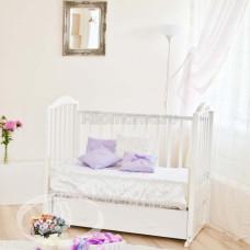 Детская кроватка Красная Звезда (Можга) Регина С 580 аппликация №23 бабочки(продольный маятник)