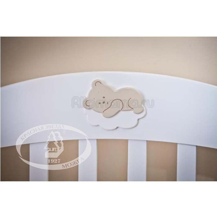 Кровать детская Красная Звезда (Можга) Валерия С 749 Аппликация №22 Мишка на облачке