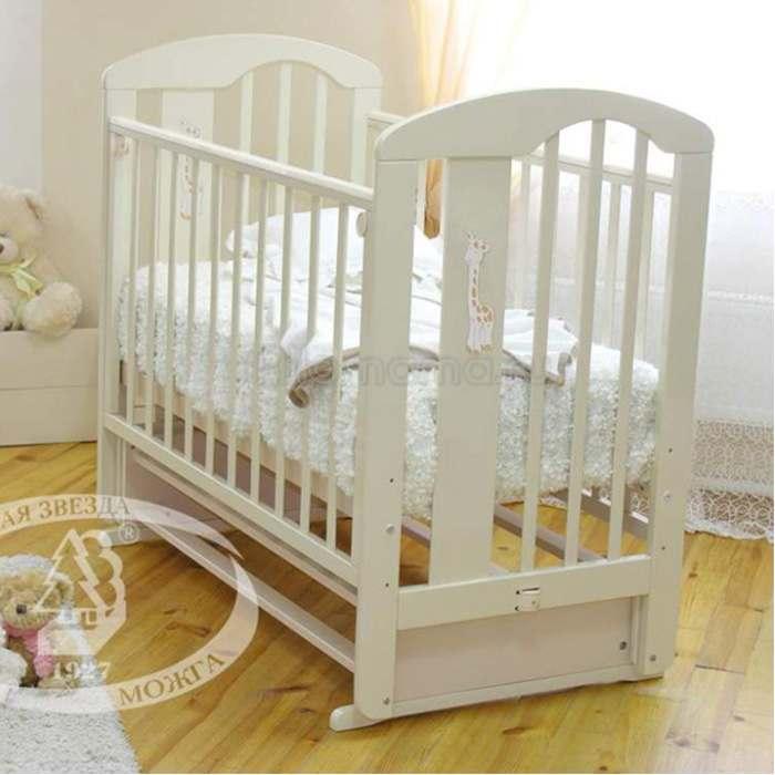 Детская кроватка Красная Звезда (Можга) Агата C 718 (поперечный маятник) накладка-ростомер №11