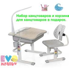 Детская парта и стул MEALUX EVO 03 с лампой
