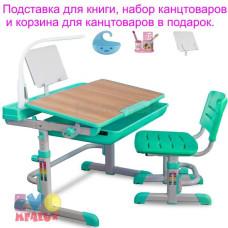 Детская парта и стул MEALUX EVO 04 XL с лампой
