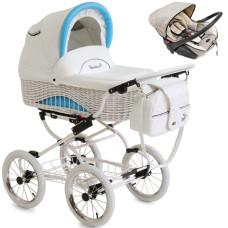 Коляска для новорожденного+автокресло REINDEER Prestige Wiklina