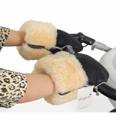 Муфта-рукавички ESSPERO Double Leatherette (натуральная шерсть)