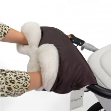 Муфта для рук на коляску ESSPERO Soft Fur Lux (Натуральная шерсть)