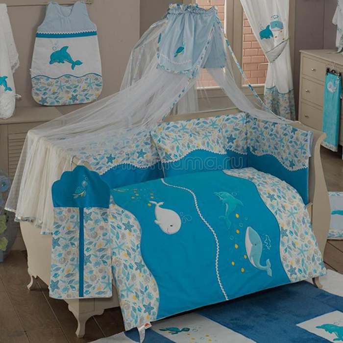 Комплект постельного белья Kidboo Sea Life (4 предмета)