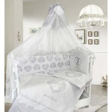 Комплект в кроватку LABEILLEBABY Ажурный 7 предметов вышивка