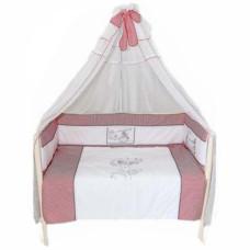 Комплект в кроватку LABEILLEBABY Красная шапочка 7 предметов