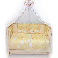 Комплект в кроватку LABEILLEBABY Лунный Мишка 7 предметов