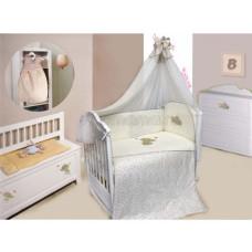 Комплект в кроватку LABEILLEBABY Милый слоник 7 предметов