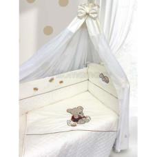 Комплект в кроватку LABEILLEBABY Мишутка на бревнышке 6 предметов