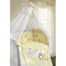 Комплект в кроватку LABEILLEBABY Панда с друзьями 7 предметов
