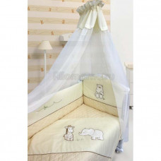 Комплект в кроватку LABEILLEBABY Сафари 6 предметов