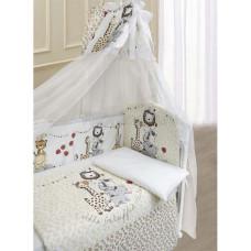 Комплект в кроватку LABEILLEBABY Вечеринка маленького жирафа 7 предметов