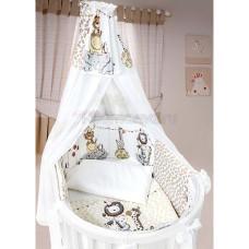 Комплект в кроватку LABEILLEBABY Вечеринка маленького жирафа 8 предметов