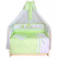 Комплект в кроватку LABEILLEBABY Веселая семейка 7 предметов
