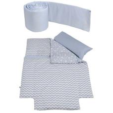 Одеяло с пододеяльником + наволочка + бортики 120х60 MICUNA Harmony Etnico TX-1812