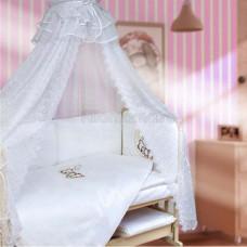 Комплект в кроватку МОЙ АНГЕЛОК Лунный друг 7 предметов