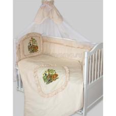 Комплект в кроватку Золотой гусь Аленка 7 предметов