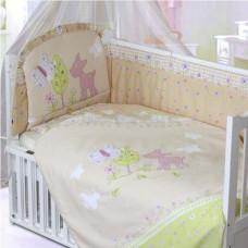 Комплект в кроватку Золотой гусь Little Friend 7 предметов 120х60 см