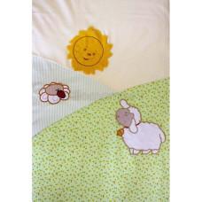 Комплект в кроватку Золотой гусь Веселые овечки 7 предметов